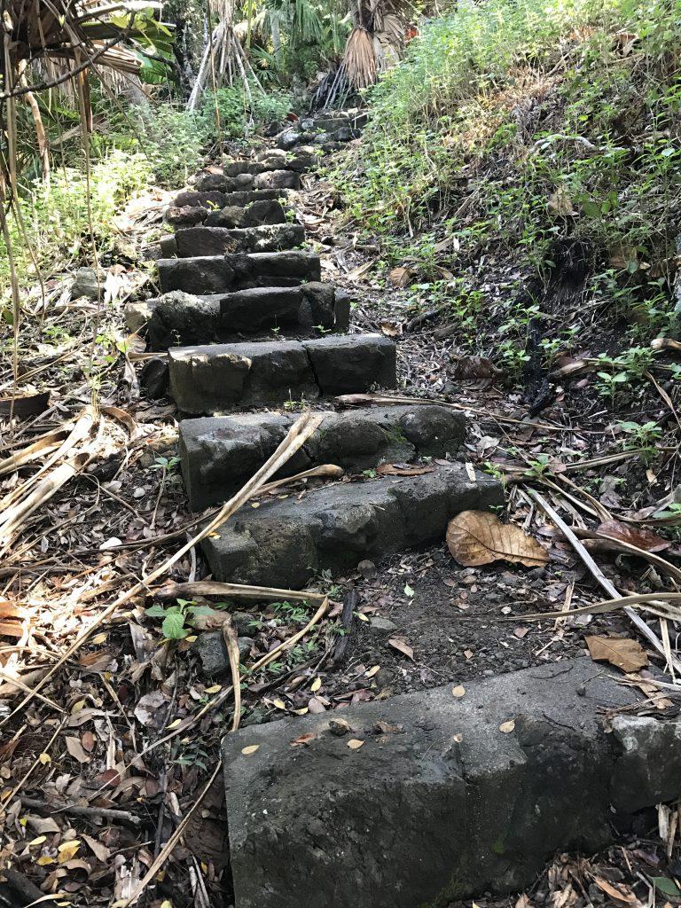 登り階段が体力を奪う